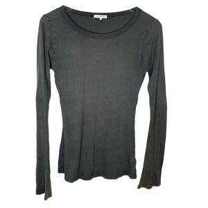 James Perse size 2  ribbed long sleeve tee